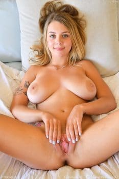 Busty college girl Gabbie Carter pussy opened